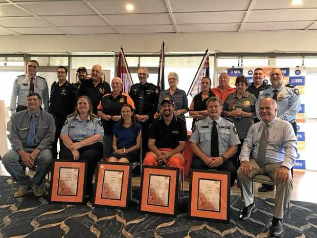 The group of recipients and presenters for the 2017 SES Awards for the central region.