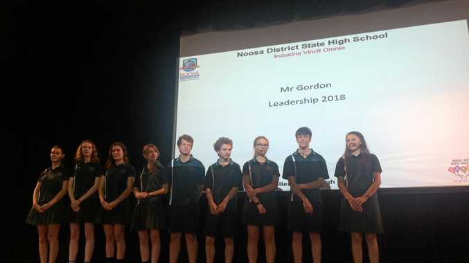 LEADERS: Noosa District State High School announced its captains for 2018 at the school parade last week.