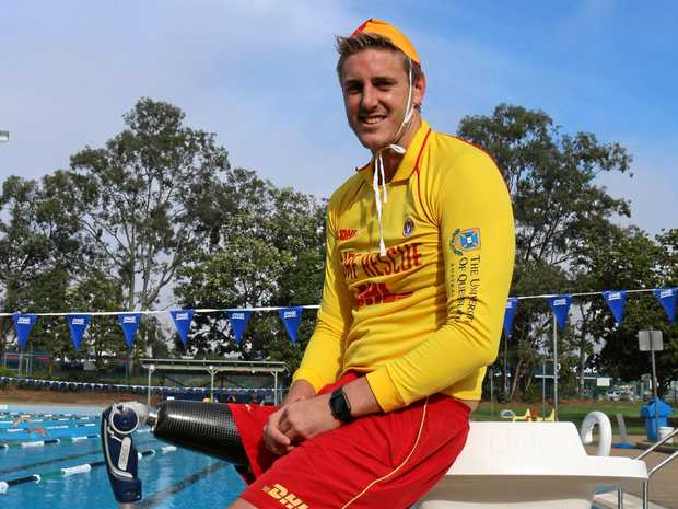 Paralympic swimmer Brenden Hall also finds time to keep swimmers safe on our beaches.