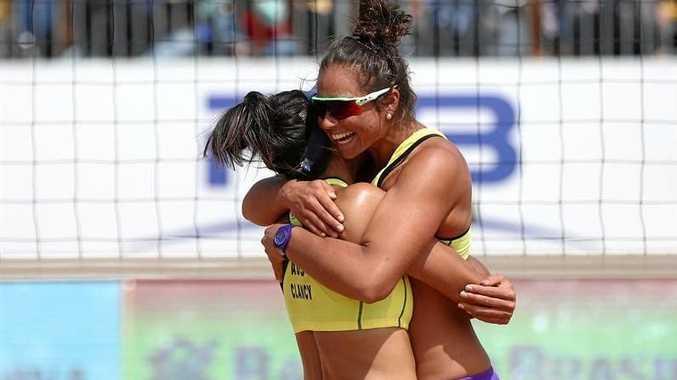 WINNERS: Taliqua Clancy and Mariafe Artacho del Solar celebrate their victory.