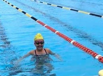 The rain did not stop Oakey swimmer Rachel Byers from training this week.
