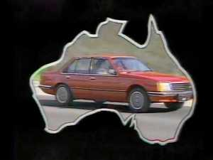 "Screen shots from Holden's ""Football, meat pies, kangaroos and Holden cars"" TV ad in the 1970s."