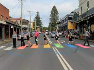Rainbow crossing at Bellingen to be repainted