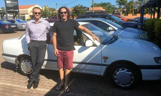 MYSTERY RALLY: Local musician and school teacher Matthew Barker and co-driver Ben Neilson from Neilson and Co Wealth Management have entered this year's Mystery Box Rally.
