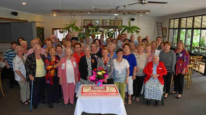 Lismore Base Hospital Auxiliary celebrated 100 years at Summerland House Farm yesterday.