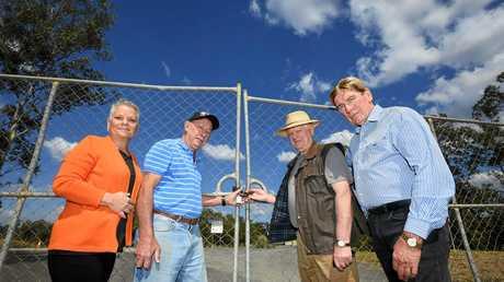 Jan Watt, Tom Marshal, Roger Hogg and Chris De Vere not happy about the new dump hours of the Imbil dump.