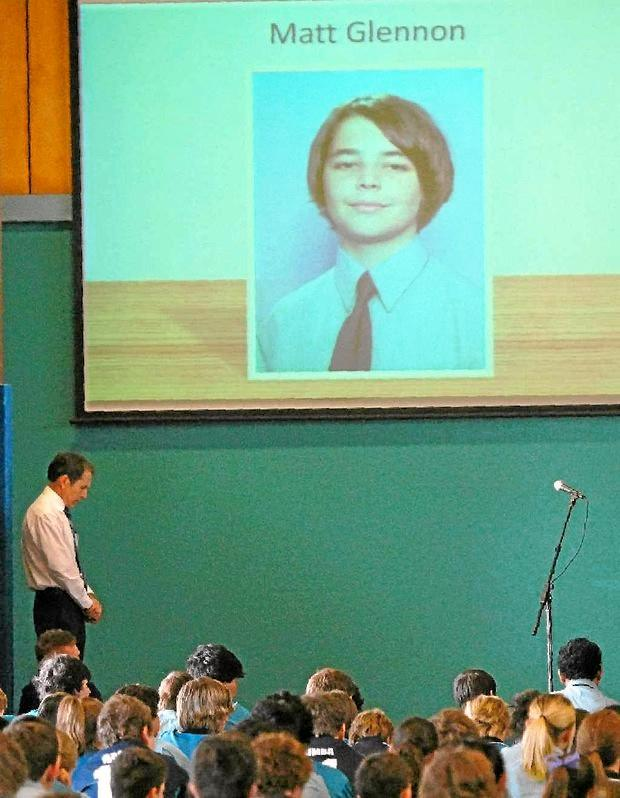 Mackay Mercy College students, teachers and Principal Jim Ford remembered Matthew Glennon, known as Matty, who died in a 2011 car crash which a coroner will investigate.