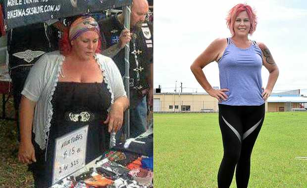 TRANSFORMATION: Jacinta Dickenson dropped six dress sizes in 18 months.