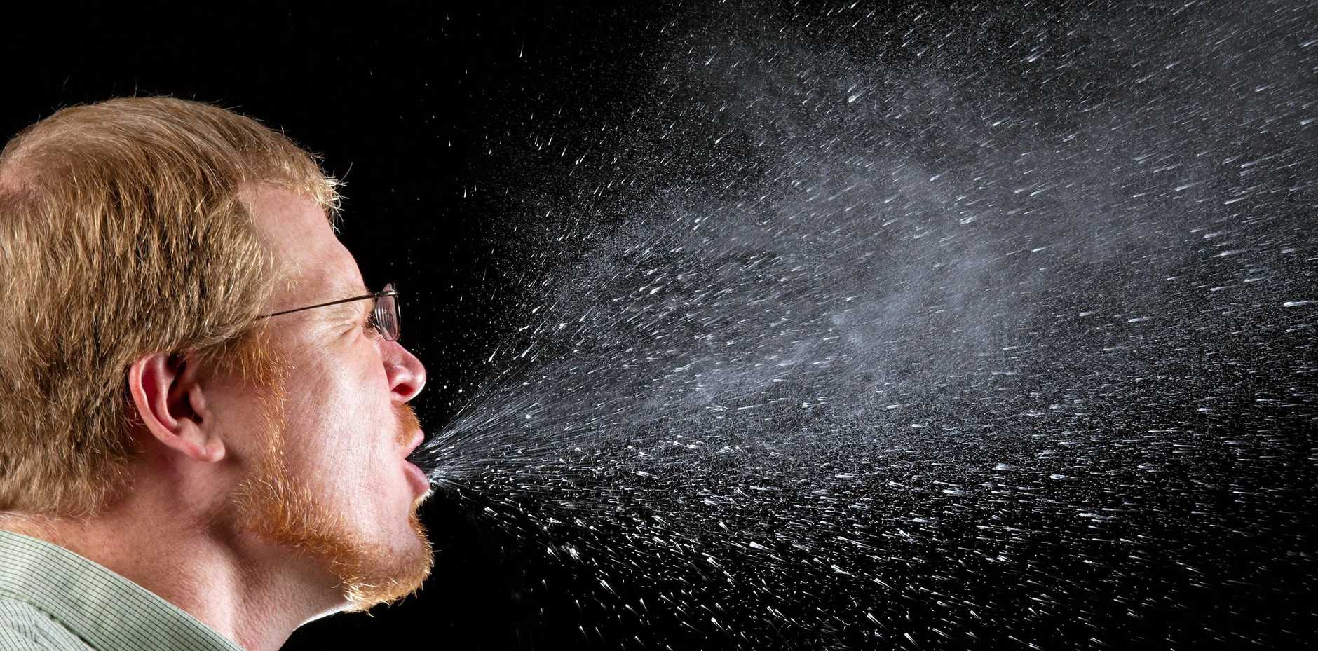 A slow motion sneeze - but flu can spread quickly.