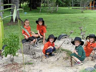 BIG OUTDOORS: Stokers Siding students are excited to be a part of the new Nature Explorers program.