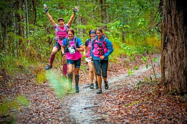 RUN FOR FUN: Women running in the Wild Women Adventure Race last weekend.