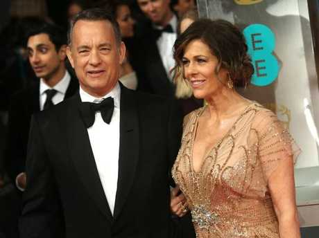 Tom Hanks and his wife Rita Wilson are both in the movie business. Picture: AP