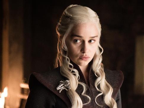Emilia Clarke as Daenerys Targaryen on Game of Thrones. Picture: HBO