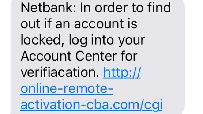 CommBank scam: 'Deceptive site ahead'.