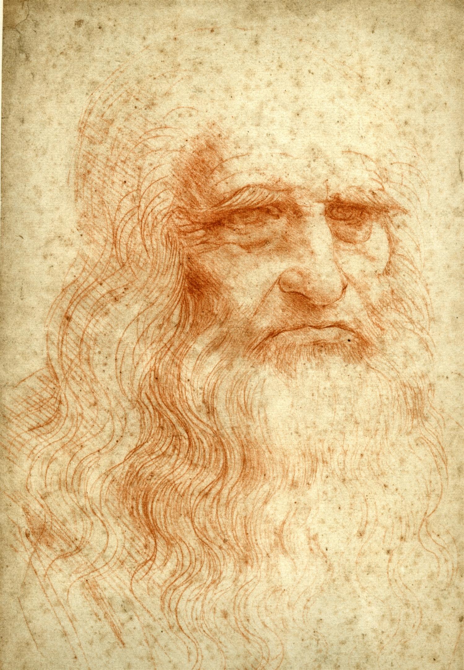 Self portrait of Leonardo da Vinci.