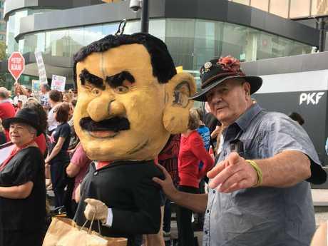 Protesters target Adani in Brisbane.