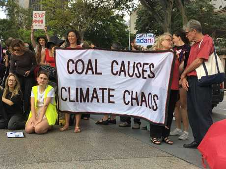 Adani targeted by protesters in Brisbane.