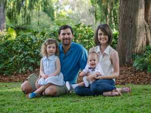 Toowoomba blogger Bindy Scott with husband Trent and their children LuLu and Tommy.