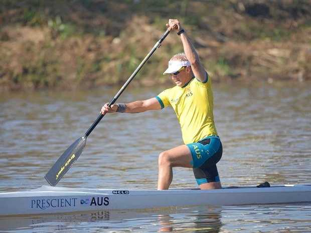 DETERMINED: Rain Metsoja competed at the Canoe Marathon World Championships at Pietermaritzburg in South Africa.