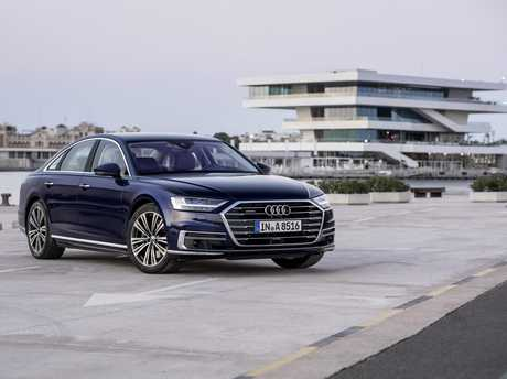 The Audi A8 (overseas model shown) will arrive in Australia mid-way through 2018.