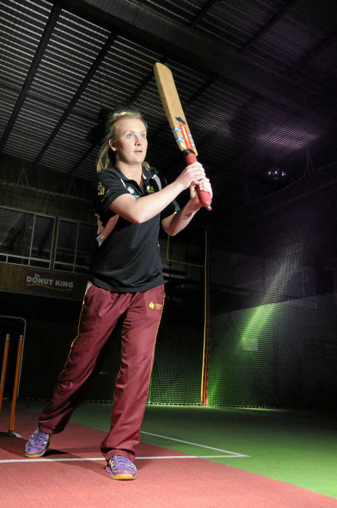TOP SCORE: Regional cricket officer Anna Paton is helping for the first three weeks of In2Cricket in Warwick on a Wednesday afternoon.