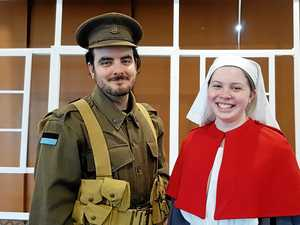 WAR PRODUCTION: Jesse Warren and Sophie Moffat star in the Emmaus College production, The Home Front, at the Pilbeam Theatre.