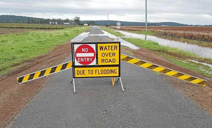 NO GO: The road closed sign