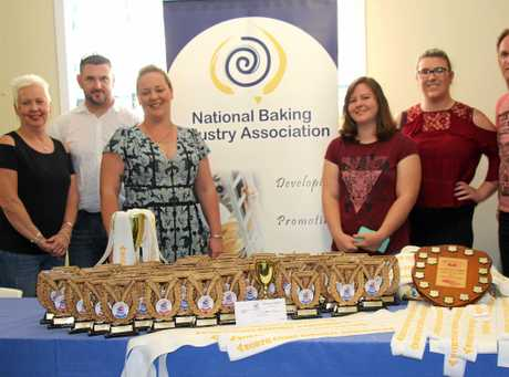 Evans Head bakery team with 2016 Lismore Show awards.