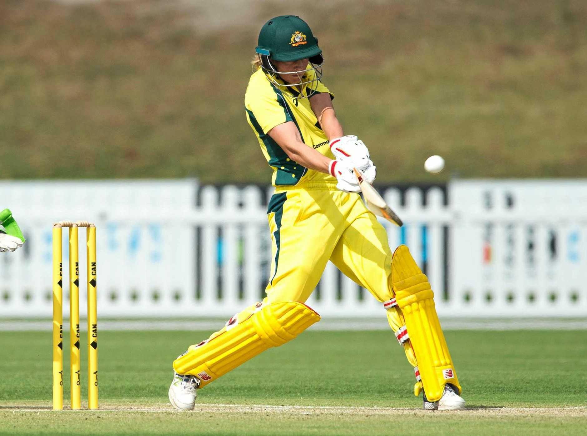 Meg Lanning in action for the Australian women's cricket team last season.