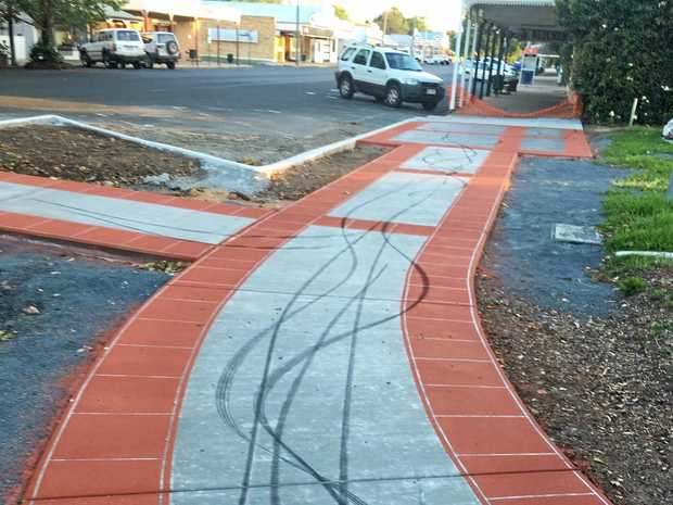 Fresh vandalism on a newly completed path in Allora has caused upset among locals.