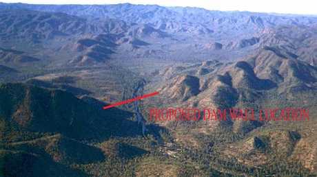 The proposed Urannah Dam site.