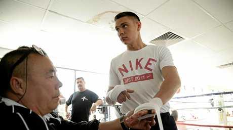 Tim Tszyu in the training gym.