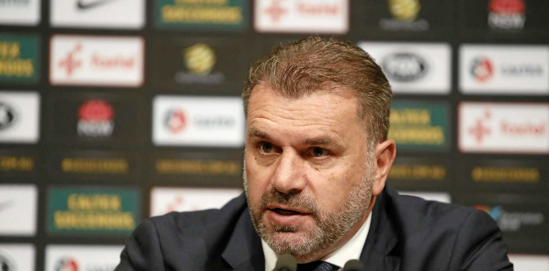 Socceroos coach Ange Postecoglou says his focus is on his team's next two games.