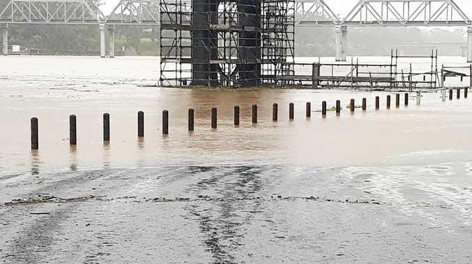 Unprecedented rainfall across the Bundaberg region this month has created hazards for motorists.