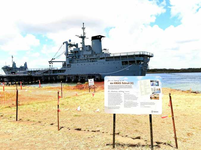 SHIP STORAGE: Council is looking at trying to store artefacts from the HMAS Tobruk for the proposed museum.