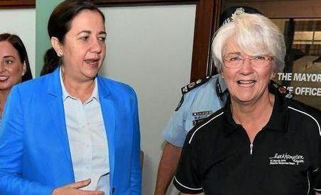 CAPTAIN'S PICK: Premier Annastacia Palaszczuk with Rockhampton Mayor Margaret Strelow