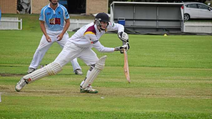 AT THE HELM: Alstonville opener and captain Mitchell Pearce against Ballina Bears in FNC LJ Hooker League cricket at the weekend.