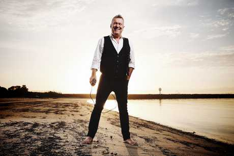 Aussie rock icon Jimmy Barnes pictured on the water early morning at Botany Bay.