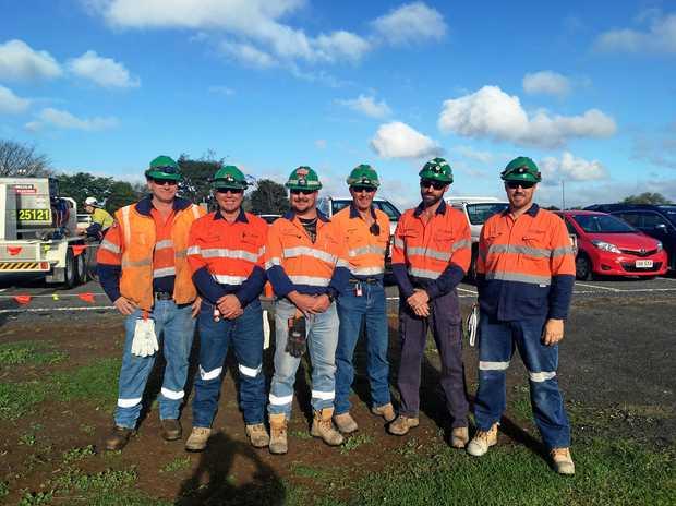 TOPS: New Acland Mine Emergency Response Team (from left) Kel Stephens, Malcom Jannusch, Dallas Hinrichsen, Peter Bastian, Darren Rowe and Jason Erhlich.