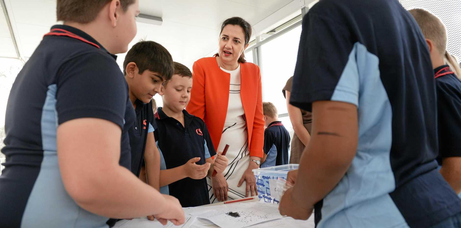 Premier Annastacia Palaszczuk at Camira State School on Friday.