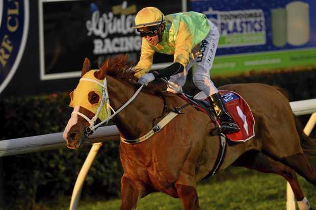TOP RATED: Jockey Michael Schrapel brings Agapantha to taste success at Clifford Park in Toowoomba last season.