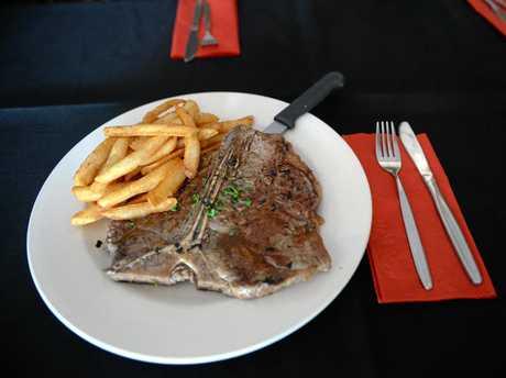 SABROSA STEAKHOUSE: T-bone steak available at Sabrosa Steakhouse. Photo taken on Thursday, 4 December 2014. Photo: Max Fleet / NewsMail