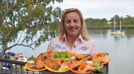 Bundy Food Tours' Suzie Clarke at Grunske's on the River on the 2017 Winterfeast Artisan Food Tour.
