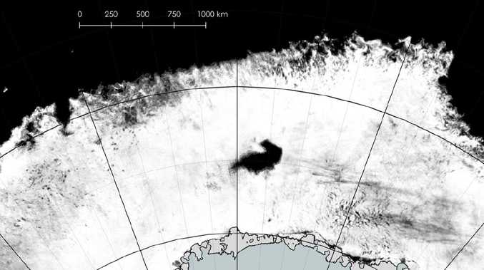 The polynya off the coast of Antarctica. Picture: ICDC, University of Hamburg/SCAR Antarctic Digital Database/Jan Lieser