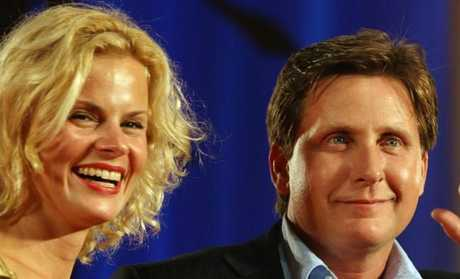 Emilio Estevez with wife Sonia in 2006. Picture: Supplied