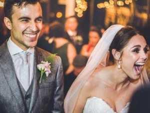 Couple adopt dog that crashes wedding day