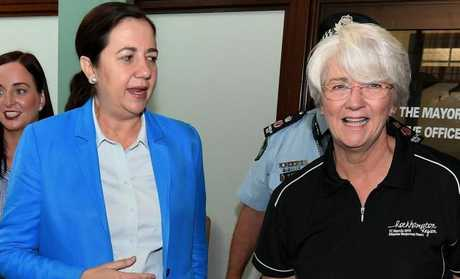 Premier Annastacia Palaszczuk with Rockhampton Mayor Margaret Strelow