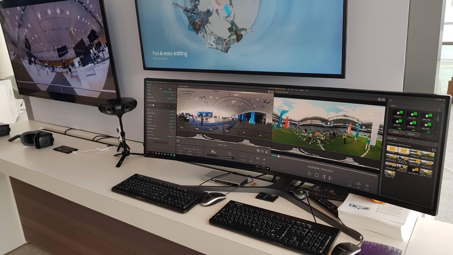 Samsung's 360 Round editing suite.