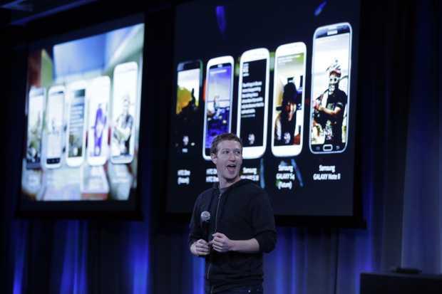 Facebook CEO Mark Zuckerberg speaks at the company's headquarters in Menlo Park, Calif., Thursday, April 4, 2013.