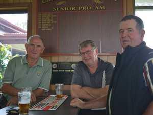 Ray McLaren, Steve Johnson, and Doug Haig get ready